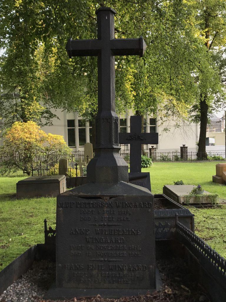Oluf Peterson Wingaard sitt gravsted
