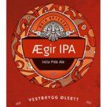 Fjellsiden ølbryggerlag - etikett av Ægir IPA India Pale Ale
