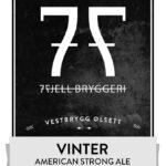 Fjellsiden ølbryggerlag - etikett av 7 Fjell Vinter American Strong Ale