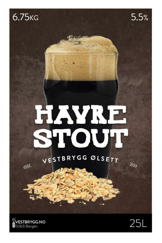 Fjellsiden ølbryggerlag - etikett av Vestbrygg Havrestout