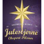 Fjellsiden ølbryggerlag - etikett av Vestbrygg Julestjerne Eksport Pilsner