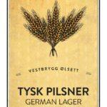 Fjellsiden ølbryggerlag - etikett av Vestbrygg Tysk Pilsner