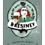 Fjellsiden ølbryggerlag - etikett av Kinn Bresjnev Sovjet Staut