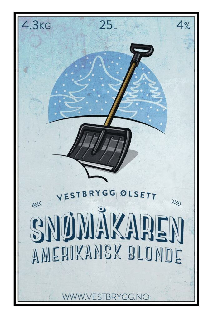 Fjellsiden ølbryggerlag - etikett av Vestbrygg Snømåkaren Amerikansk Blonde