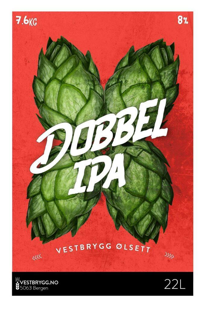 Fjellsiden ølbryggerlag - etikett av Vestbrygg Dobbel IPA