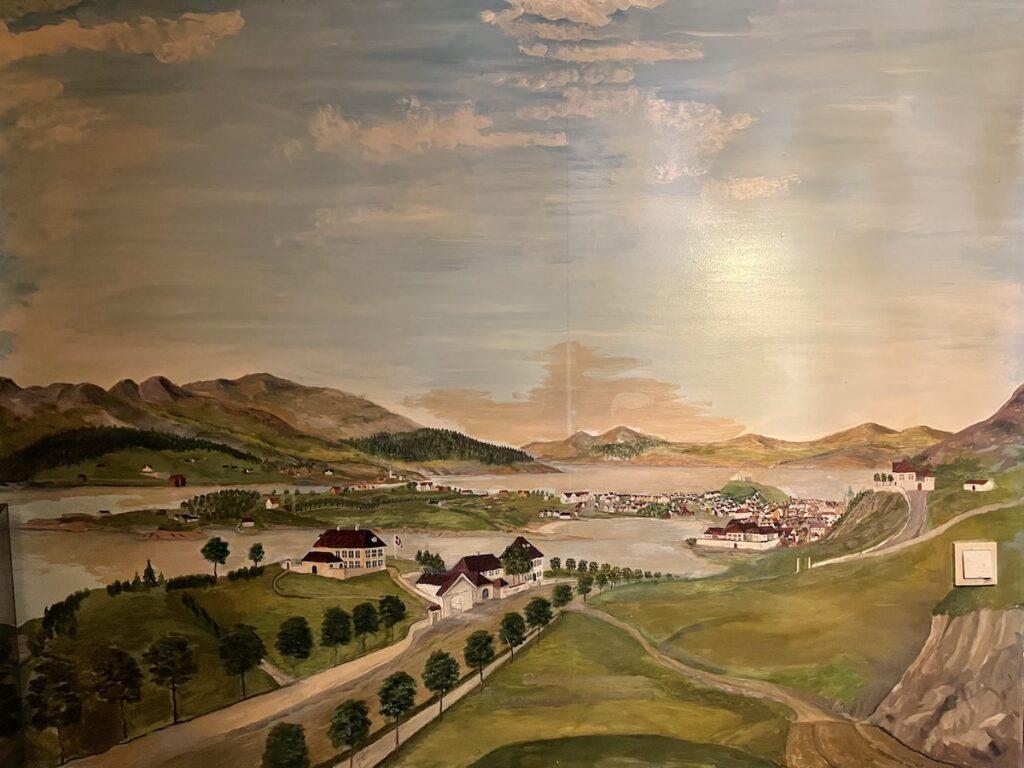 Fjellsiden - bilde av Store Kalfaret på tidlig 1800-tall