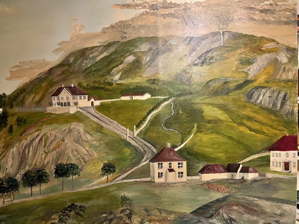 Fjellsiden - bilde av Store Kalfaret tidlig 1800-tallet