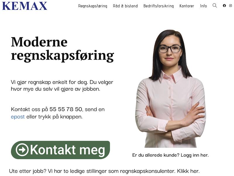 Fjellsiden - skjermkopi av Kemax.no sin forside