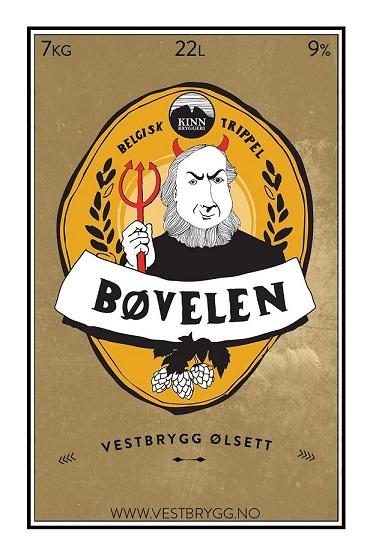 Fjellsiden ølbryggerlag - etikett av Kinn Bøvelen Belgisk Trippel