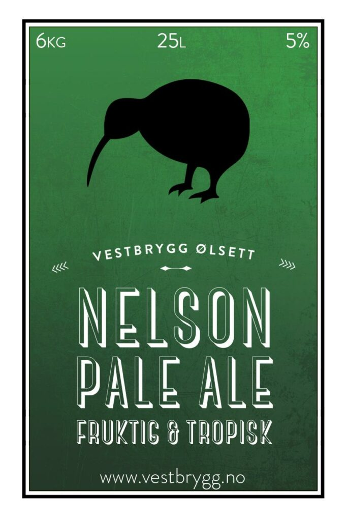 Fjellsiden Ølbryggelag - Etikett av Vestkyst Nelson Pale Ale