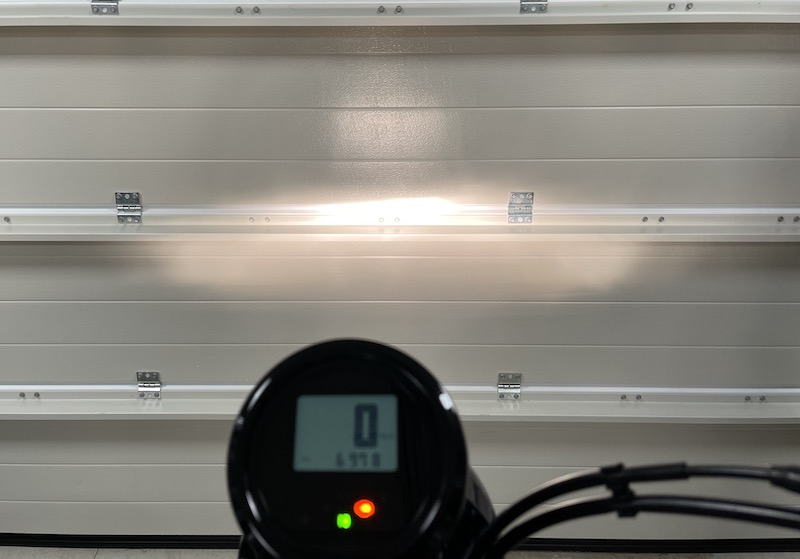 Bilde av lysstrålen med standard halogen
