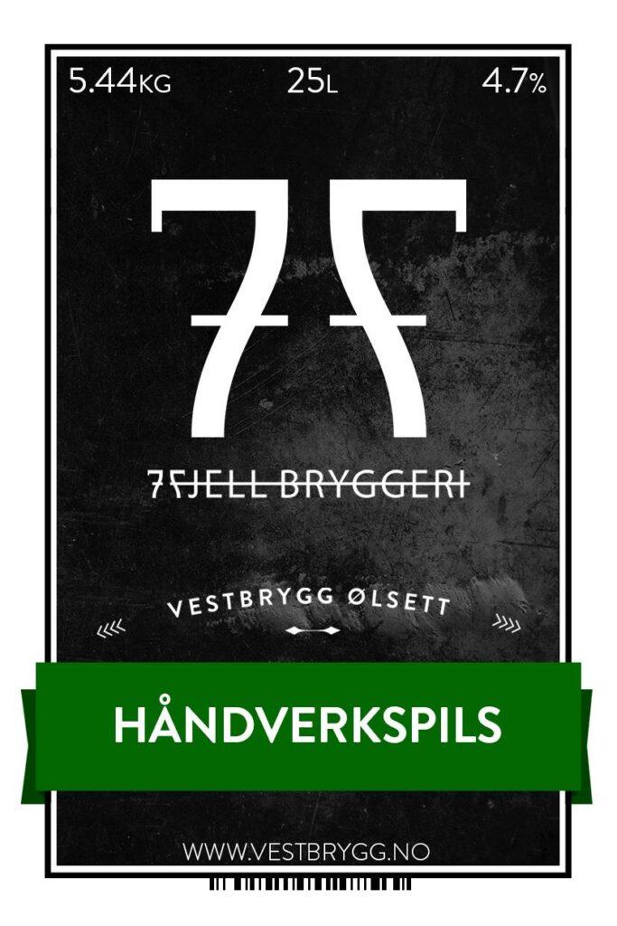 Fjellsiden ølbryggerlag - etikett av 7 Fjell Håndverkspils