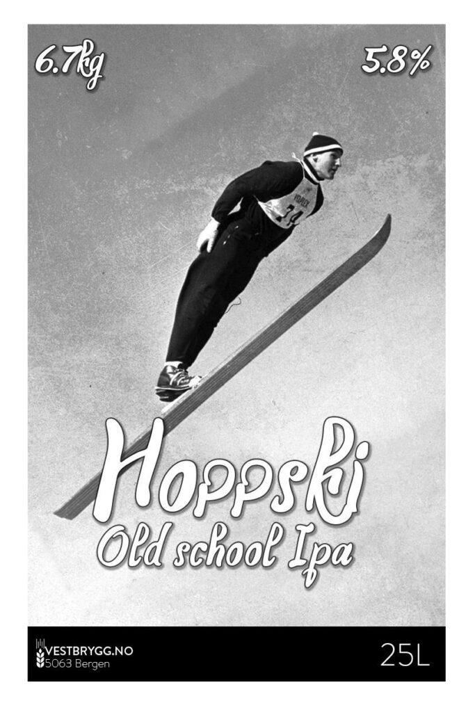 Fjellsiden - bilde av etikett for Hoppski old school IPA